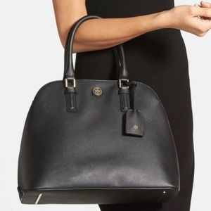 Tory Burch   Robinson Open Dome Satchel Leather